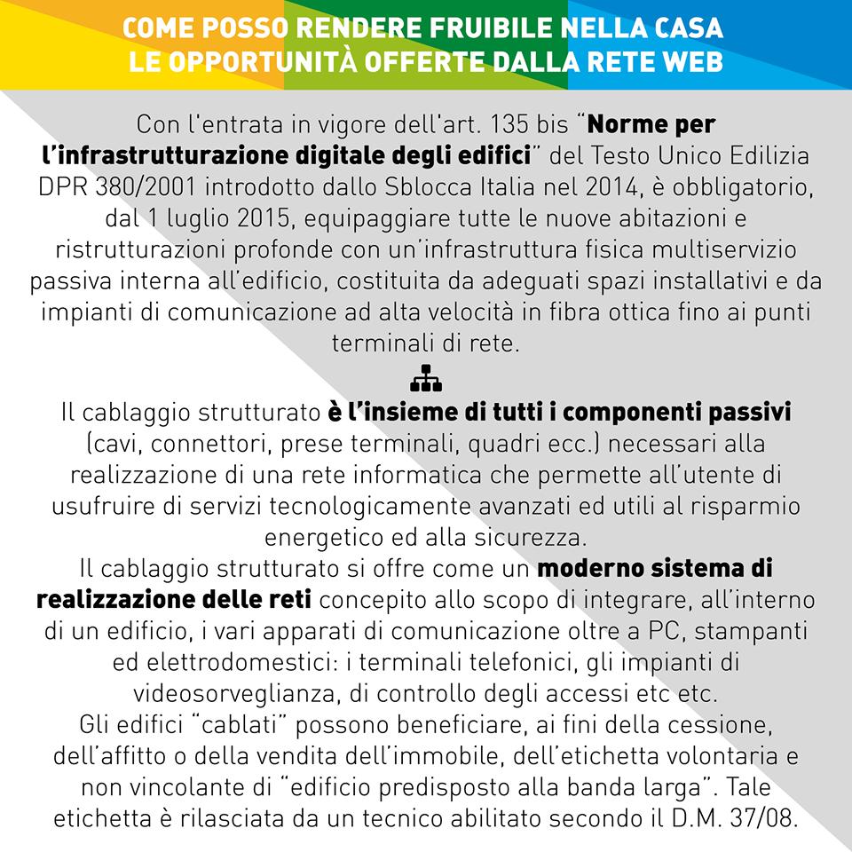 COME POSSO RENDERE FRUIBILE NELLA CASA LE OPPORTUNITÀ OFFERTE DALLA RETE WEB - leggi e decreti